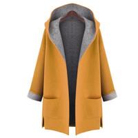 2019 Herbst-Frau Staub-Mäntel Damen Strickjacke Allgleiches 50 Mode windundurchlässiges Mantel Weiblicher Trenchcoat aus Wolle