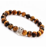 jewelry natural agate beads bracelet evil transit Lionhead T...