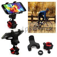 Universal bicicleta motocicleta gps mount holder com clipe duplo de 360 graus de rotação ajustável cradle guidão para iphone + caixa de varejo 100