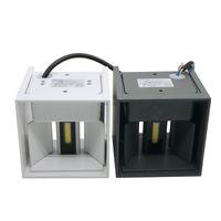 Umlight1688 7W 12W COB Led Duvar Aplikleri Duvar Işıklar IP65 Sıva Üstü Açık Küp Lambası Su geçirmez Yukarı Aşağı (Beyaz Beyaz Isınma)