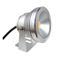 a buon mercato 10W impermeabile IP68 nero della copertura LED subacquee riflettori AC DC 12V Illuminazione argento / bianco caldo bianco