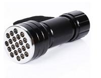 미니 21 LED 블랙 라이트 보이지 않는 마커 손전등 UV 울트라 바이올렛 토치 램프 손전등 램프 무료 DHL 배송