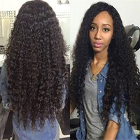 Top Grade Glueless Full Lace Wig Brazilian Deep Curly Full L...