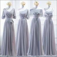 섹시한 나라 들러리 드레스 긴 V 목 사용자 정의 레이스 업 백 웨딩 파티 착용 저렴한 명예 가운의 착용