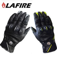2016 New Authentic French LAFIRE Wolverine Motorcycle riding gloves Knights motorbike racing leather gloves 2 colors and 3 size