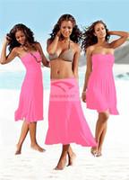 2016 mujeres playa falda trajes de baño bikini blusa encubrimientos Halter Vestido Múltiple desgaste método wrap falda traje de baño Falda de playa envío gratis