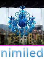 Nimi1124 Blau Lila Kronleuchter Kristall Lichter Bar Cafe KTV Licht Hotel Villen Wohnzimmer Glas Blase Kerze Pendelleuchten Beleuchtung