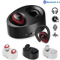미니 TWS K2 무선 쌍둥이 Bluetooth 스테레오 이어폰 형 이어폰 이어 버드 헤드폰 (충전 용 소켓 헤드셋 포함)