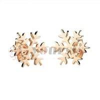 YourSFS Rose-Gold Color Titanium Стальные ювелирные изделия Бесплатные окружающие девочки Симпатичные Серьги Симпатичные Серьги
