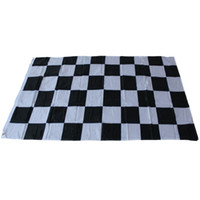 Racing Checkered Flag - Black and White Plaid Banner 90*150c...