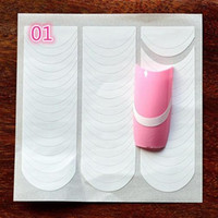18 stili / set unghie decorazione unghie suggerimenti di arte nail art forma guide frangia adesivo fai da te francese manicure