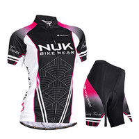 Cyclisme Femmes NUCKILY Noir Jersey Confortable + Short Bicycle Outdoor Jersey Set Respirant Taille S, M, L, XL, XXL