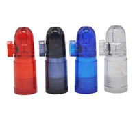 15Pcs Acrylic Plastic Snuff Bullets Pipe with Clear Bottoms ...