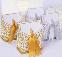골드 실버 DIY 종이 사탕 상자 초콜릿 상자 결혼식 호의 가방 무료 배송 1000pcs 많은 도매