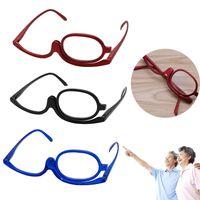 Lentes de maquiagem de plástico de leitura de vidro de dobramento de óculos Cosméticos Geral Unisex New Design Anti-reflexivo de óculos de policarbonato