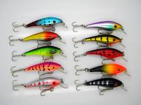 Am besten Plastikminlow Shad-Fischen-Köder 10colors 4.4g 6cm Laser-Frischwasserwobbler Künstlicher harter Köder