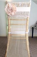 2016 pizzo 3D fiore chiffon sedia da sposa telai romantico coperture per sedie da sposa floreale accessori da sposa vintage 02