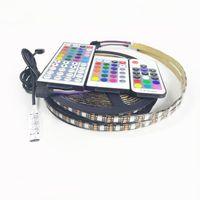 DC 5 V RGB LED Şerit Kitleri IP20 IP65 5050 USB Su Geçirmez TV PC Arka Işık 30LED / Metre Yapıştırıcı LED Şerit Seti Ev Dekor Led Işık