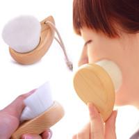 Schönheit Gesicht Waschbürste Reinigung Make-up Pinsel Weiche Faser Gesichtsreinigung Saubere Porenpflege Holzgriff Make Up Werkzeuge