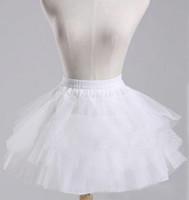 Enagua blanca / negra / roja para niñas Falda de tres capas Tulle Elastic Waist Accesorios para niños Ropa interior Enagua sin aros Rockabilly
