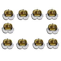 10 PCS reversível coroa de lantejoulas patches para vestuário applique remendo de ferro acessórios crachá adesivos em roupas de ferro em manchas de boca para o pano