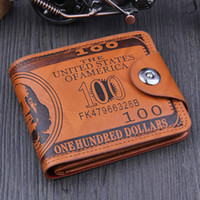 Wholesale- Free Shipping US Dollar Bill Wallet Brown Leather...