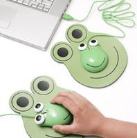Оптовая забавные дети мини мультфильм 3D лягушка shaped USB проводная оптическая мышь мыши для ноутбука ноутбук PC бесплатная доставка