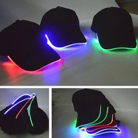 Uomo Donna LED sport Berretto da baseball Performer discoteca Hip hop partito festivo Berretto da baseball notte in esecuzione led light up glow hat regalo sunvisor