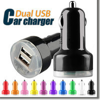 Per Iphone 6 Mini Car Charger Colorful 2 Porte Nipple Car Adapter Cigarette Plug Auto Power Adapter Opp Package