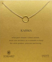 Dogeared Necklace with one circle pendant(karma), noble and ...