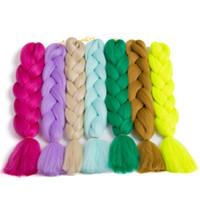 29 Signle 색상 선택 합성 Kanekalon 머리 24 인치 100 그램 / 조각 점보 머리 확장