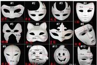 500 adet En Iyi DIY Maske El Boyalı Cadılar Bayramı Beyaz Yüz Maskesi Zorro Taç Kelebek Boş Kağıt Maske Masquerade Partisi Cosplay Maskeleri CW0298