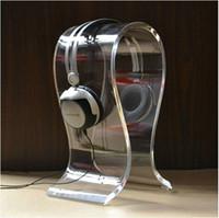 Promoção de alta qualidade ~ 8mm de espessura de acrílico Fones De Ouvido Stand U-tipo Fone De Ouvido Titular Fone De Ouvido Rack de Exibição