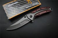 Miker DA58 taktischer faltendes Messer-Stahlblatt-Holzstiel Titan Taschen-Überlebensmesser Huntting Angeln EDC-Tool