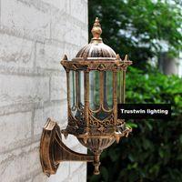Оптовая бронзовая античная латунь IP65 Лукская американская европейская открытая Sconce Vintage классическая водонепроницаемая настенная света на свежем воздухе