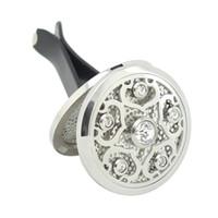 Tanzanite Silver Lotus (38mm) Magnetics Diffuseur En Acier Inoxydable 316 Voiture Aromathérapie Médaillon Médaillon Huile Essentielle Diffuseur Médaillons
