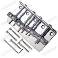 جودة عالية الفضة الحديد باس غيتار كهربائي جسر 4 باس سلاسل أجزاء الغيتار اكسسوارات