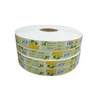 Özel yapışkanlı etiketler / rulolar üzerinde çıkartmalar Fasson Kağıt malzeme Yüksek kaliteli baskı