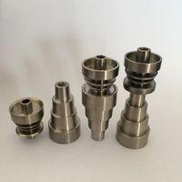 6 em 1 Titanium Nails Domeless Universal Masculino / Feminino Fit 10mm 14mm 18mm Titanum Prego Para Bongos De Vidro Cachimbo de Fumar Frete Grátis