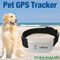 Mini GPS Tracker con collare Impermeabile in tempo reale Locator Rastreador Localizador Chip per animali domestici Cani Perro Maiali Tracking Geofence, auto