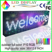 P10outdoor full color LED sign usb programmable rolling info...