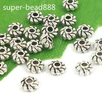 Atacado 2000 Pcs Tibetano Prata Spacer Beads Para Fazer Jóias DIY 4x2mm