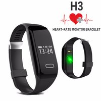 Hot Health Band Smart bracciale H3 Wristband Monitor frequenza cardiaca Bluetooth 4.0 Passometer Sports Tracker Fitness Smartband per IOS e Android
