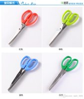 Free shipping multilayer stainless steel kitchen scissors mu...
