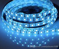 DC12V 50M 5050 SMD Eisblau 60 Leds / M Flexible Led-streifen Licht wasserdicht oder Nicht Wasserdicht Auto Dekoration Band Led Band