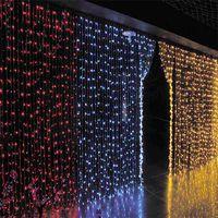 AC 110 V 220 V 3x3 M LED Perde Işık Çelenk LED Tatil Aydınlatma Dize Işıklar Peri Düğün Noel Yeni Yıl için Kapalı Bahçe Dekorasyon