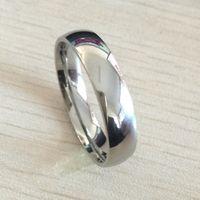 Clássico macho real prata 18k banhado a ouro branco 6 mm titanium mulheres mulheres homens anel de casamento qualidade superior não desvanece amantes jóias de casamento