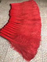 Envío gratis 300 unids / lote 30-35 pulgadas rojo PAVO de plumas pluma de pavo real del ojo para trajes Decoración artesanía evento fuente