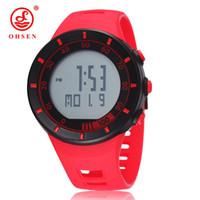 2017 новое прибытие OHSEN цифровой человек мужские часы водонепроницаемый открытый часы спортивные часы красный дизайн моды наручные часы для Hombre git
