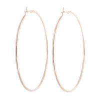 Grandi orecchini a cerchio placcati in oro placcato argento di alta qualità per le donne Cerchi geometrici per orecchini di alta qualità